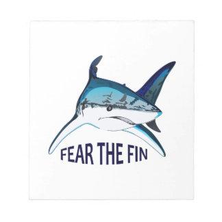 FEAR THE FIN MEMO NOTE PAD