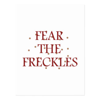 Fear the Freckles Postcard