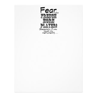 Fear The French Horn Player Letterhead