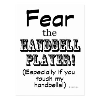 Fear The Handbell Player Postcards