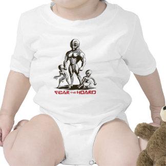 Fear the Hoard by CaffeineBlitz Baby Bodysuit