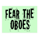 Fear The Oboes Postcard