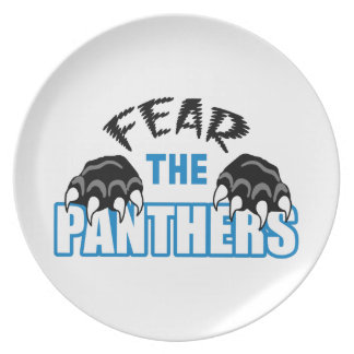 Fear The Panthers Melamine Plate