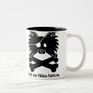Fear the Pirate Papillon Two-Tone Coffee Mug