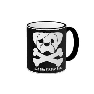 Fear the Pirate Pug Ringer Mug