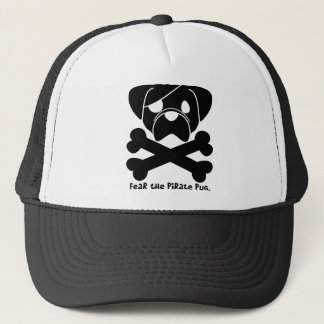 Fear the Pirate Pug Trucker Hat