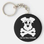Fear the Pirate Schnauzer Basic Round Button Keychain