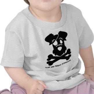 Fear the Pirate Schnauzer T-shirts