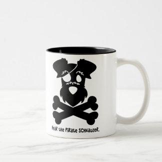 Fear the Pirate Schnauzer Two-Tone Coffee Mug