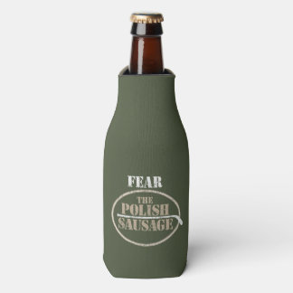 Fear the Polish Sausage (Hockey) Bottle Cooler