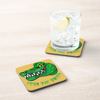 Fear The Swamp Gator Beverage Coaster