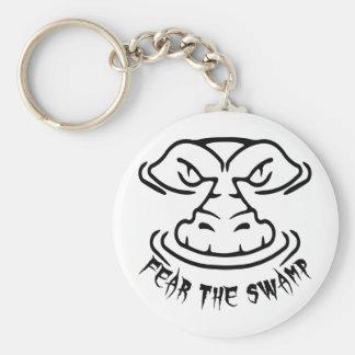 Fear the Swamp Gator Keychain