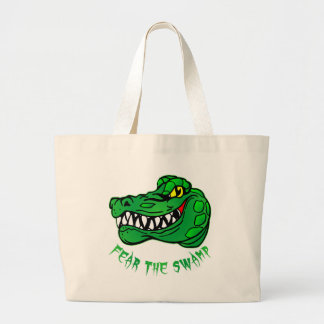 Fear The Swamp Gator Large Tote Bag