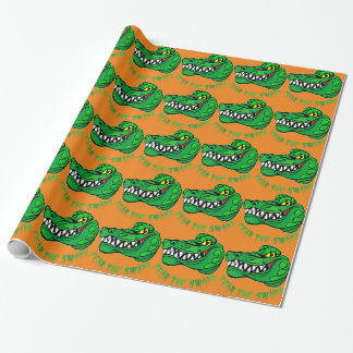 Fear The Swamp Gator Wrapping Paper