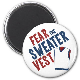 Fear the Sweater Vest 2 Inch Round Magnet
