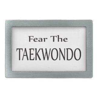 Fear the Taekwondo. Belt Buckles