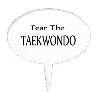 Fear the Taekwondo. Cake Toppers