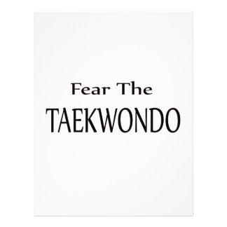 Fear the Taekwondo. Customized Letterhead