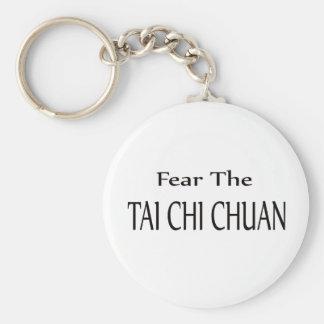 Fear the Tai Chi Chuan. Basic Round Button Keychain