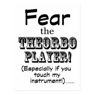 Fear The Theorbo Player Postcard