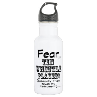 Fear The Tin Whistle Player Water Bottle