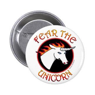 Fear the Unicorn Button Pin