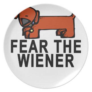 FEAR THE WIENER.png Dinner Plate