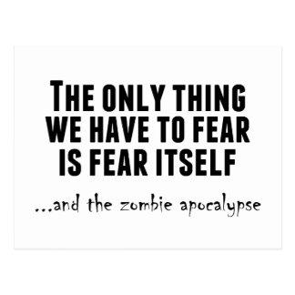 Fear the Zombie Apocalypse Postcard