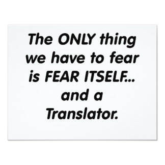fear translator card