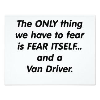 fear van driver card
