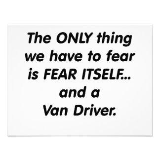 fear van driver anuncio