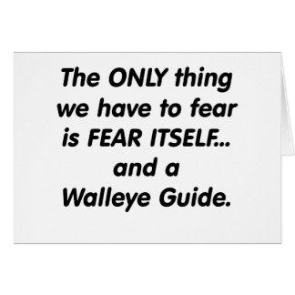 fear walleye guide card