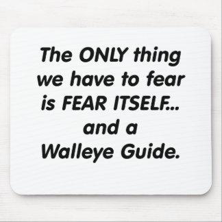 fear walleye guide mouse pad
