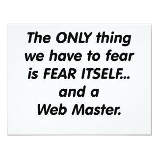fear web master 4.25x5.5 paper invitation card
