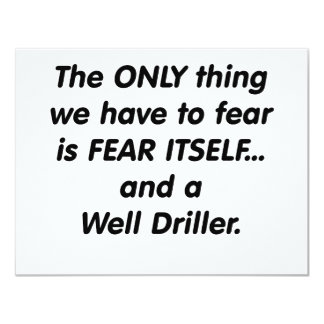 fear well driller card