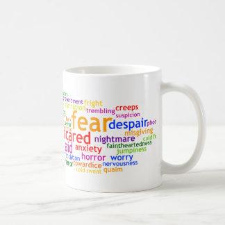 Fear Wordle Classic White Coffee Mug