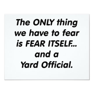 fear yard official card