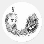 Fearbeard Round Stickers