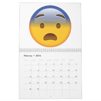 Fearful Face - Emoji Calendar