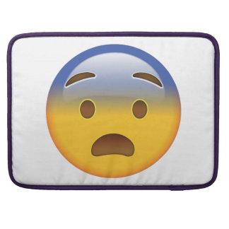 Fearful Face - Emoji Sleeve For MacBook Pro