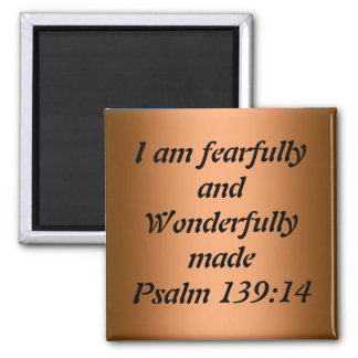 Fearfully and wonderfully made 2 inch square magnet