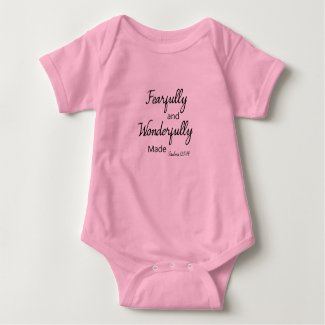 Fearfully and Wonderfully made | Baby Baby Bodysuit
