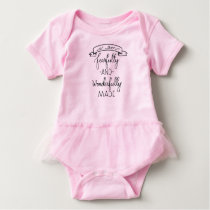 Fearfully and Wonderfully Made, Baby Girl Jumpsuit Baby Bodysuit