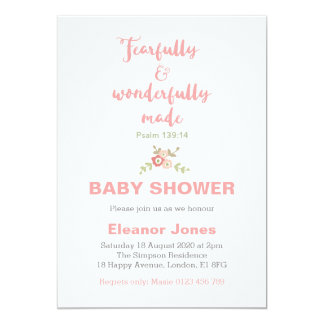 Fearfully and Wonderfully Made Baby Shower Invite