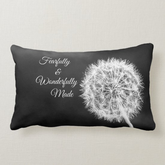 Fearfully and Wonderfully Made Bible Verse Lumbar Pillow