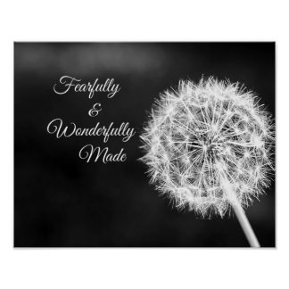Fearfully and Wonderfully Made Bible Verse Poster