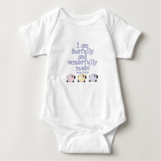 Fearfully and Wonderfully Made - Blue Baby Bodysuit