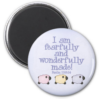 Fearfully and Wonderfully Made - Blue Magnet