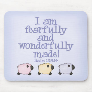 Fearfully and Wonderfully Made - Blue Mousepads