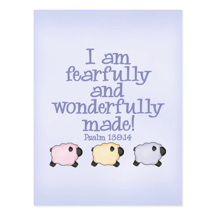 Fearfully and Wonderfully Made - Blue Postcard